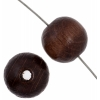 Wooden Bead Round 10mm Dark Brown